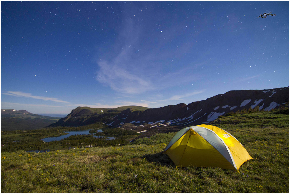 Our tent above Island Lake, Flat Tops Wilderness Colorado