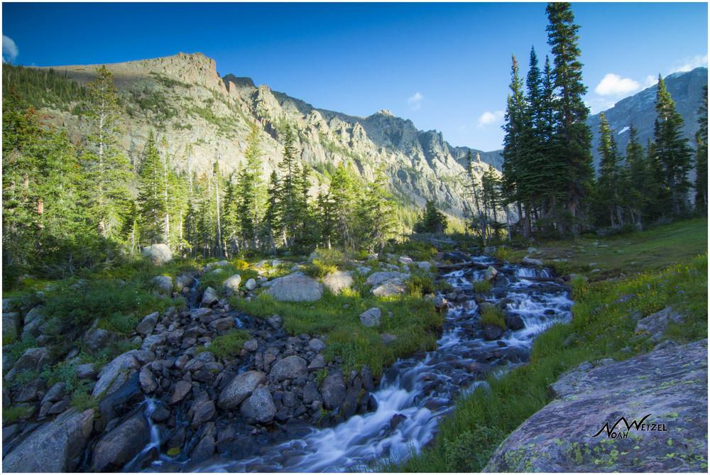 Upper Cataract Creek. Upper Cataract Lake. Eagles Nest Wilderness. Colorado