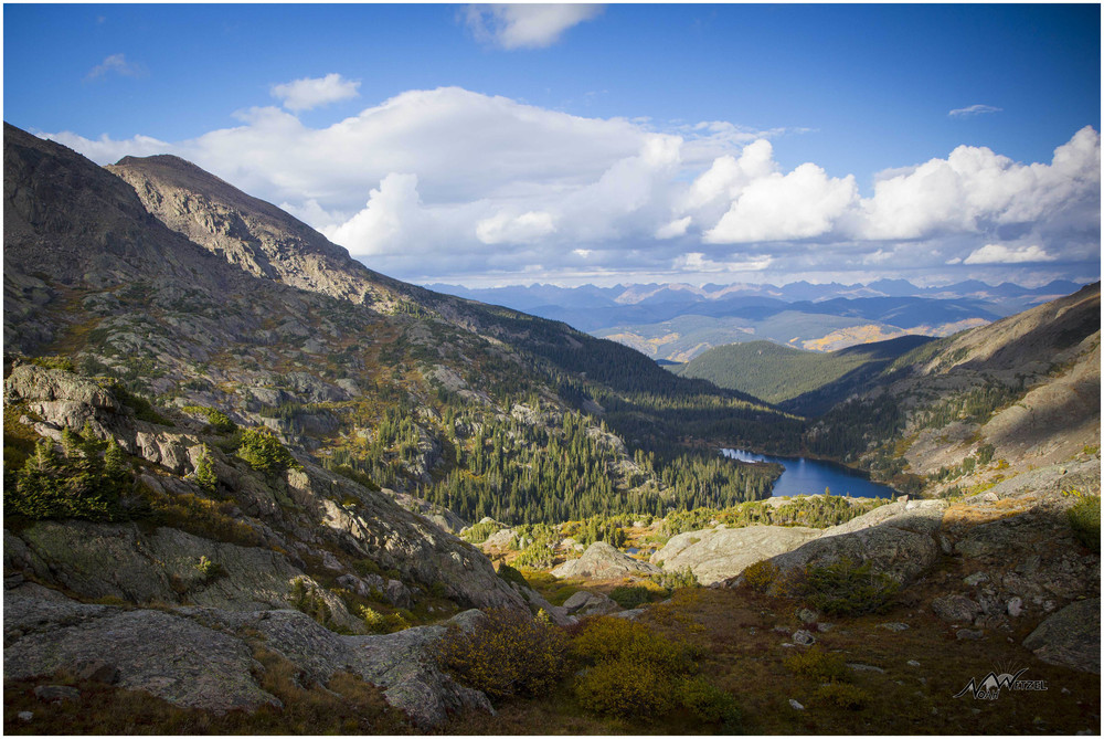 Descending towards the 11,371ft Lake Constantine. Holy Cross Wilderness