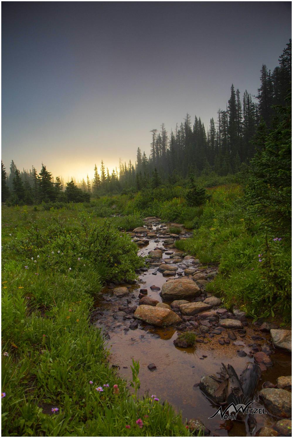 Creek Sunrise, Rawah Wilderness, CO