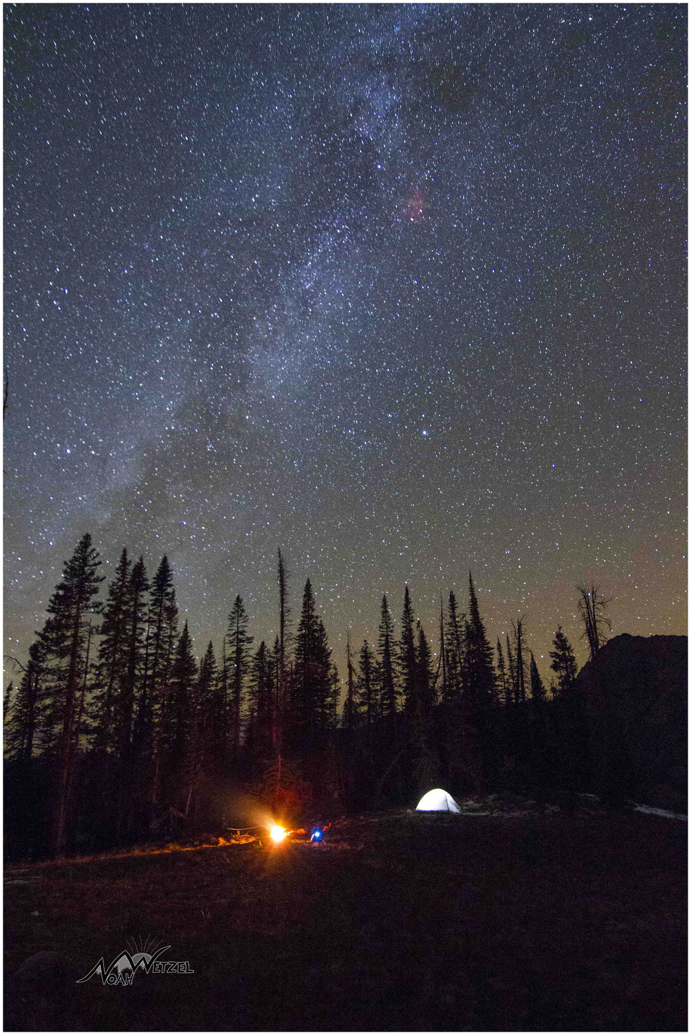 Milky Way perched above us @ Gilpin Lake.