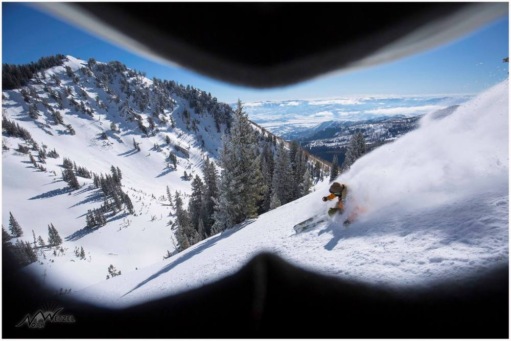 PORTFOLIO   IMAGE   2  of  9 Willie Nelson skiing pow from a friends perspective. Brighton Resort, Utah