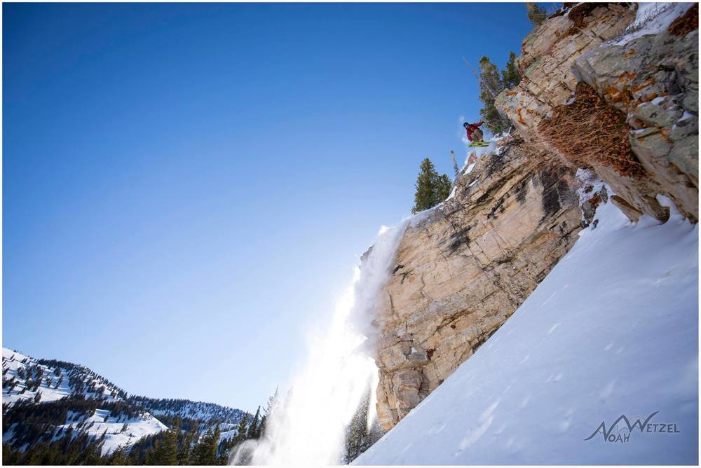 PORTFOLIO   IMAGE   7  of  9  CHRIS BRULE airing it out off a massive cliff  at Alta Ski Resort!