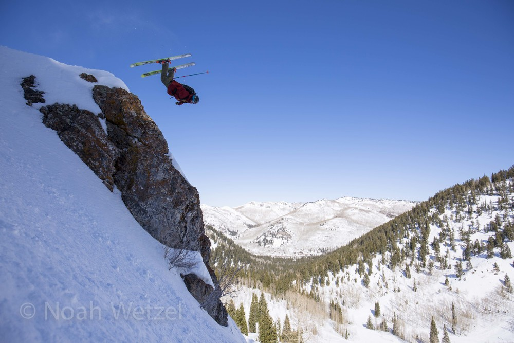 Chris Brule airing out a backy on day 3 of the Ski City Shootout. Solitude Mountain Resort, Utah.