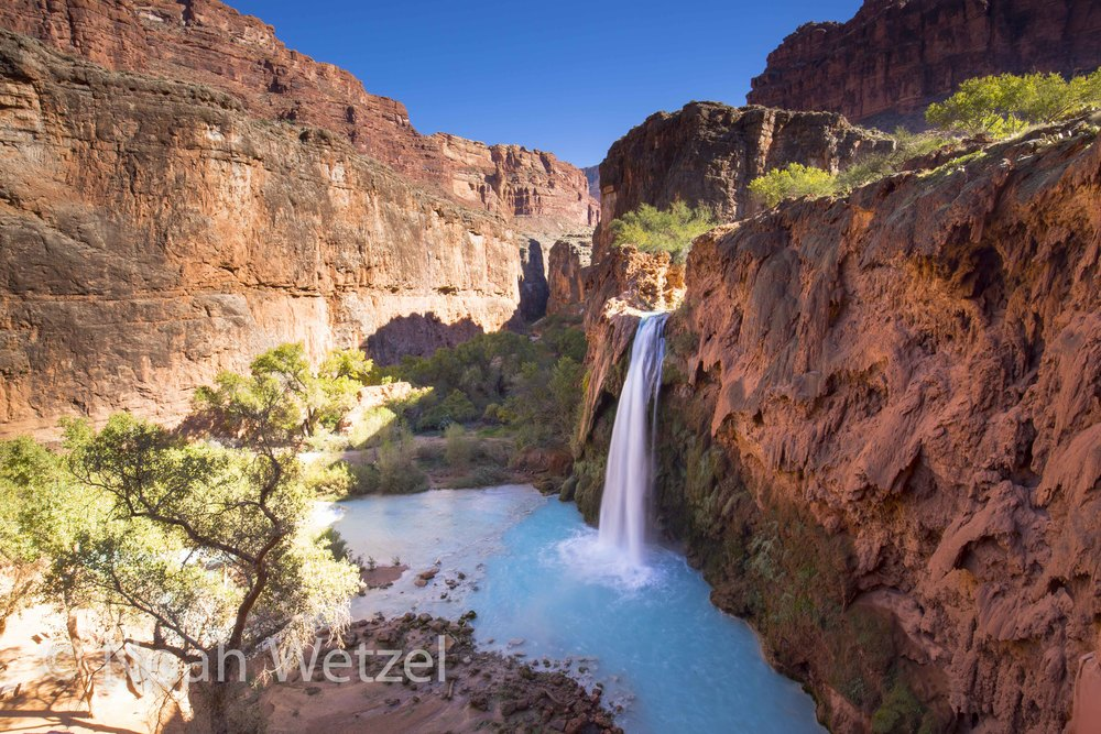 Havasu Falls. Supai Indian Village, Arizona