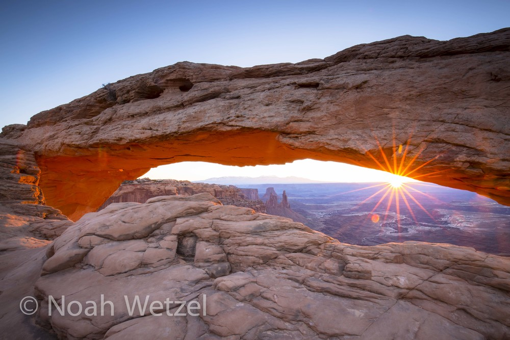 Sunrise at Mesa Arch, Canyonlands National Park, Moab, Utah