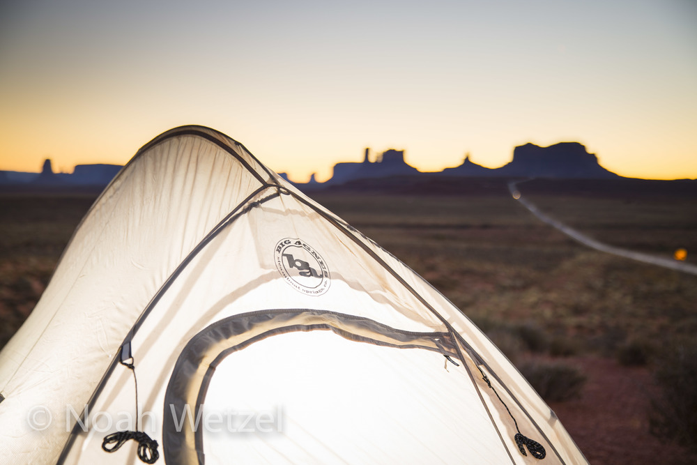 Big Agnes work in Monument Valley, Arizona