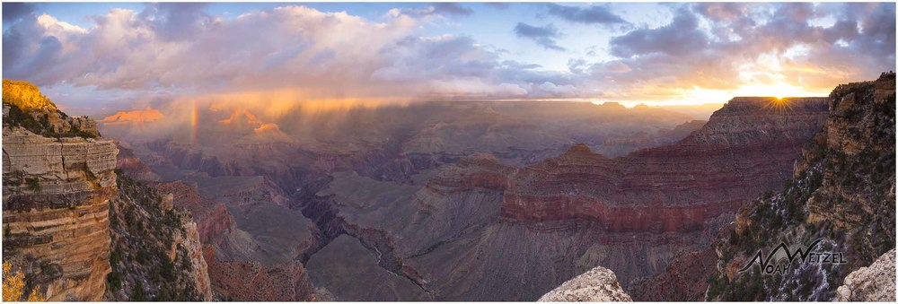 Grand Canyon Rainbow Sunrise Panoramic, Arizona