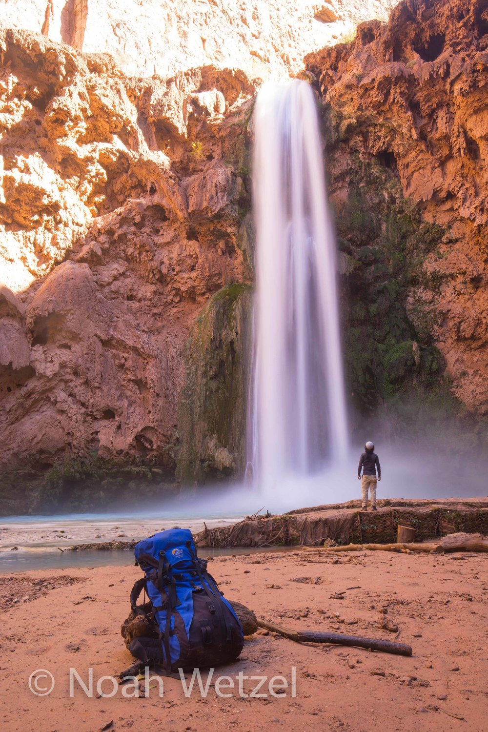 Self Portrait at Mooney Falls, Supai Arizona