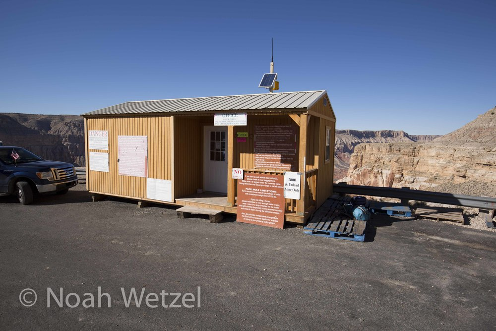 The shack at Haulupai Hilltop. Supai, Arizona