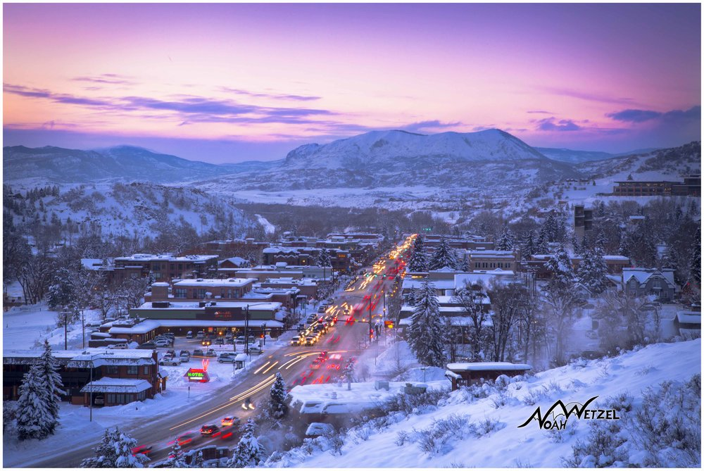 Downtown Steamboat Springs, Colorado.