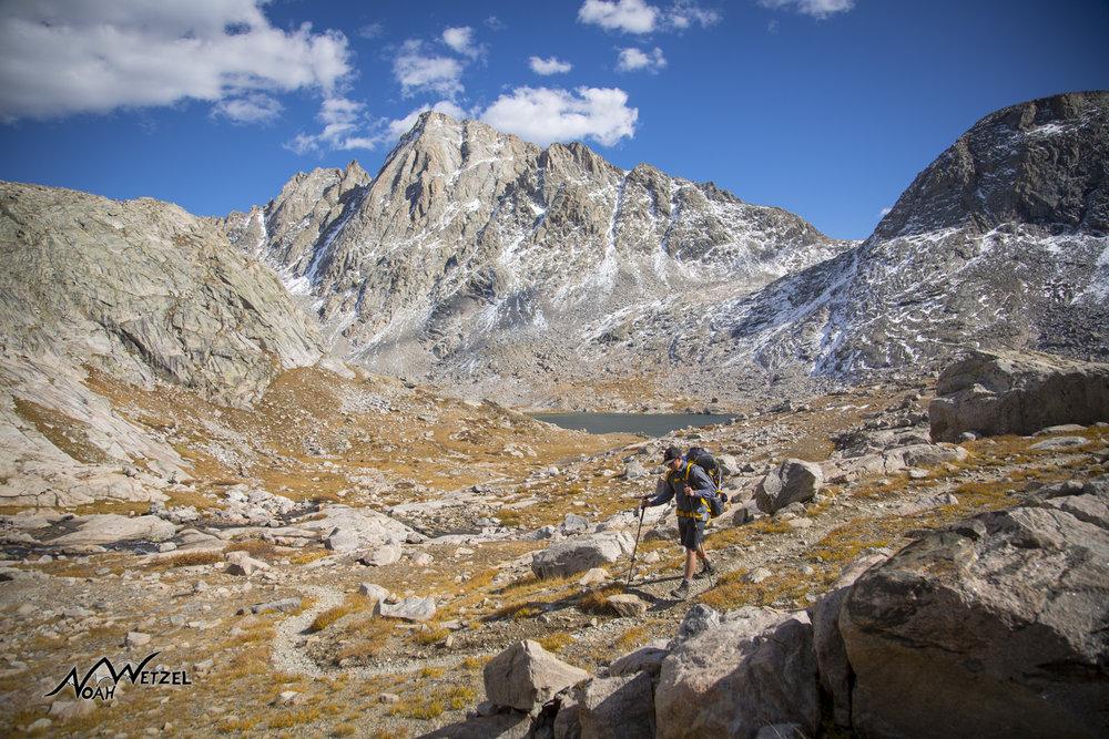 Ben Wetzel entering Indian Basin in the Wind River Range. Wyoming