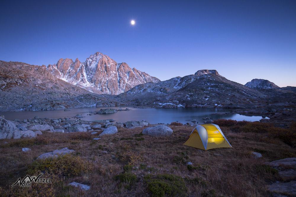 Camping at Indian Basin. Wind River Range. Wyoming