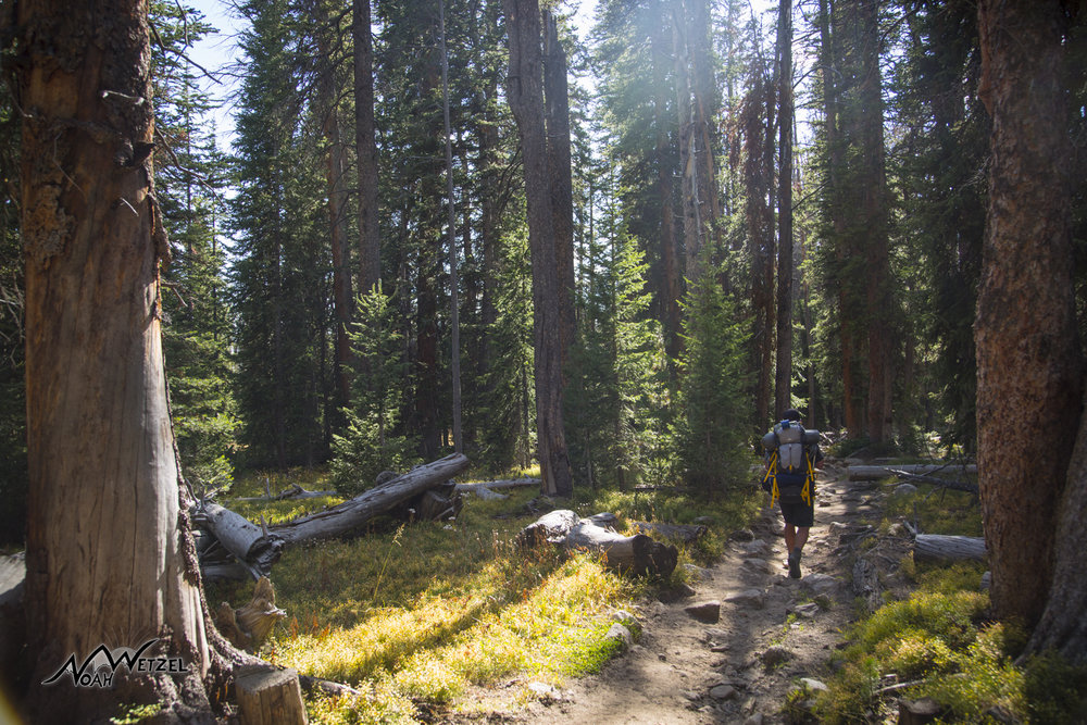 Ben Wetzel backpacking. Wind River Range. Wyoming