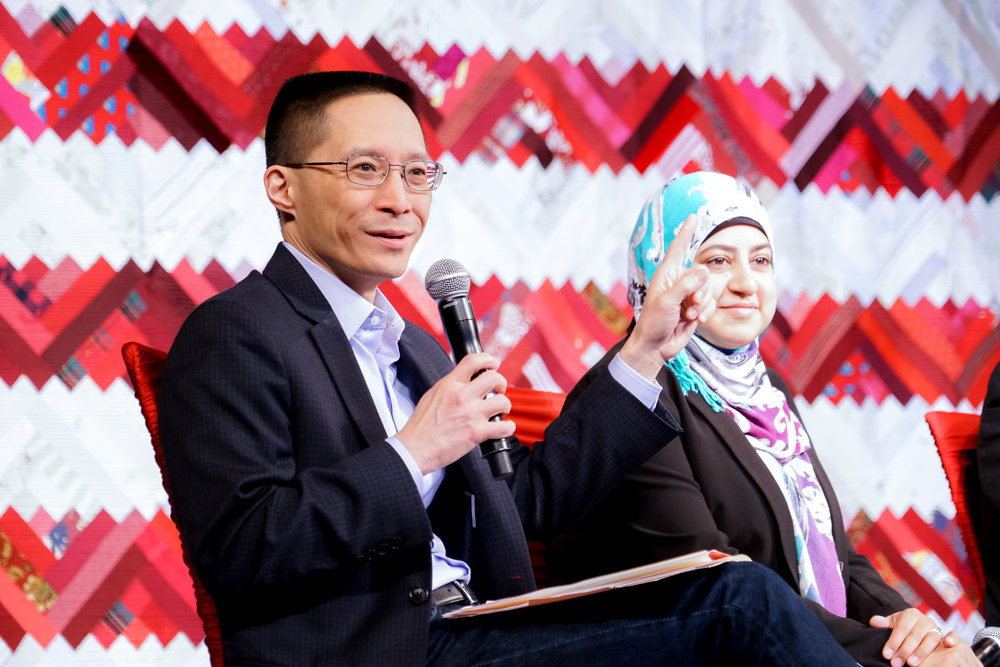 """""""Citizen artist: Eric Liu on artists' role in civic life,""""  Creative Exchange, May 2017  (photo by Alabastro Photography, courtesy of Citizen University)"""
