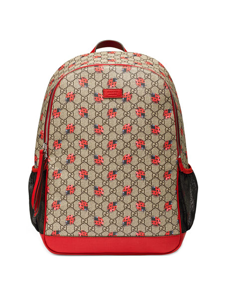 b94123ab4d73 Gucci Classic GG Supreme Ladybug Backpack Diaper Bag, Beige — LOVE