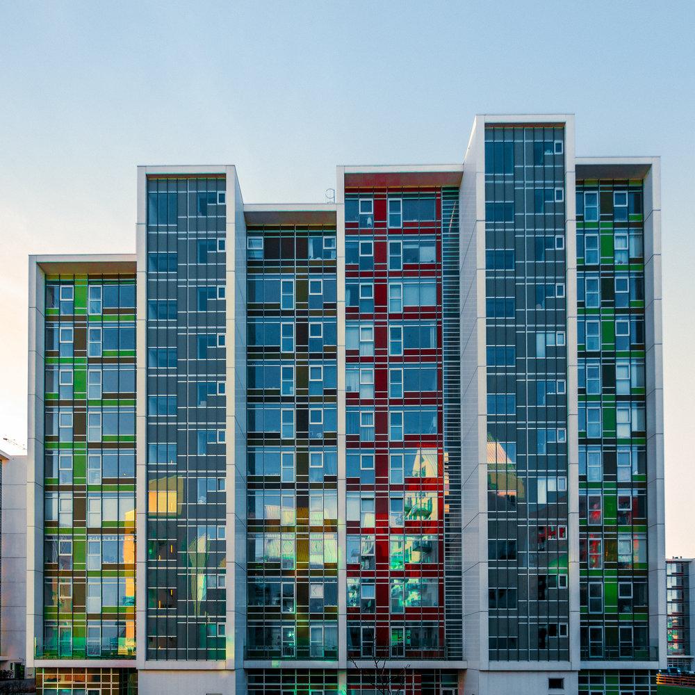 """Havneholmen"" apartment complex."