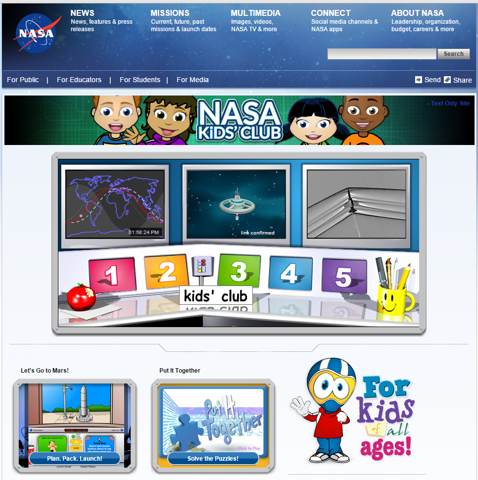NASA-Kids-Club