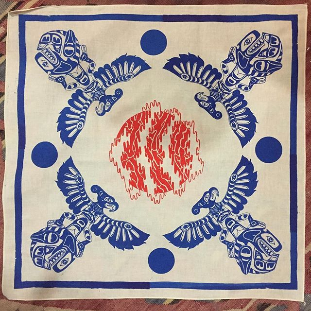@sean_evergreen and I will be selling prints and gifts at this years Winter Solstice night market at Magnuson hanger 30 dec 7th 5pm to 10pm and dec 8th 12pm to 8pm. Hand made prints and this bandana. Which Huxley approves. . . . #handprinted #design #illustration