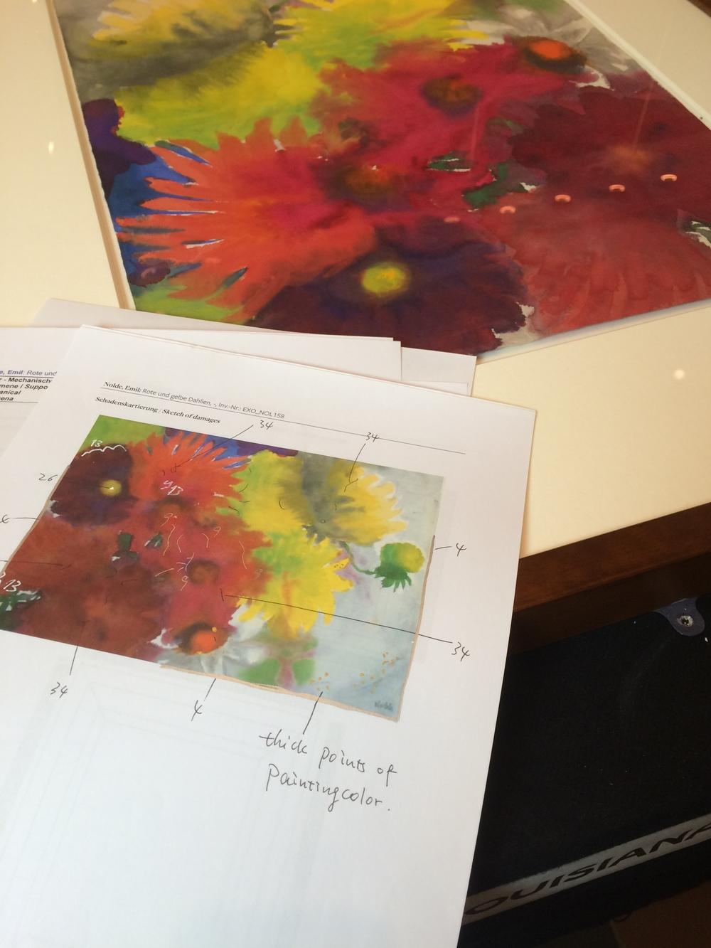 Emil Noldes akvareller bliver vurderet på Louisiana Museum.