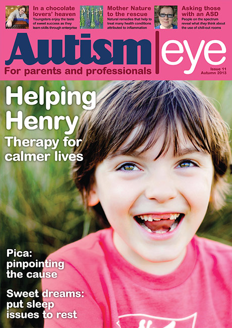 Cover story by Sean in  Autism Eye magazine