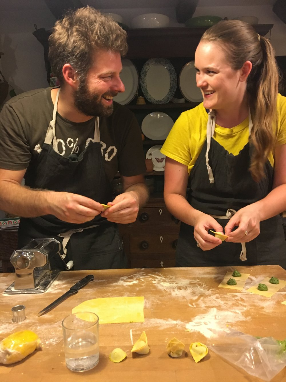 Learning the many shapes of pastas with Chef Andrea