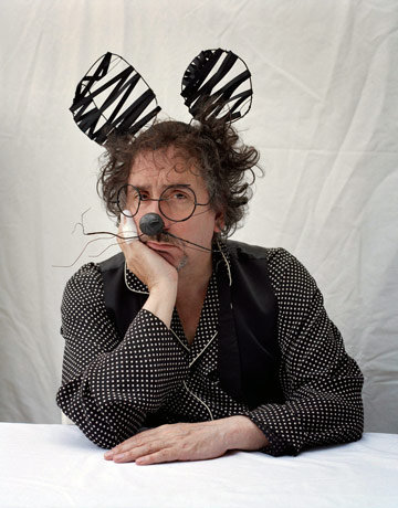 Tim Burton in bespoke Mouse Ears