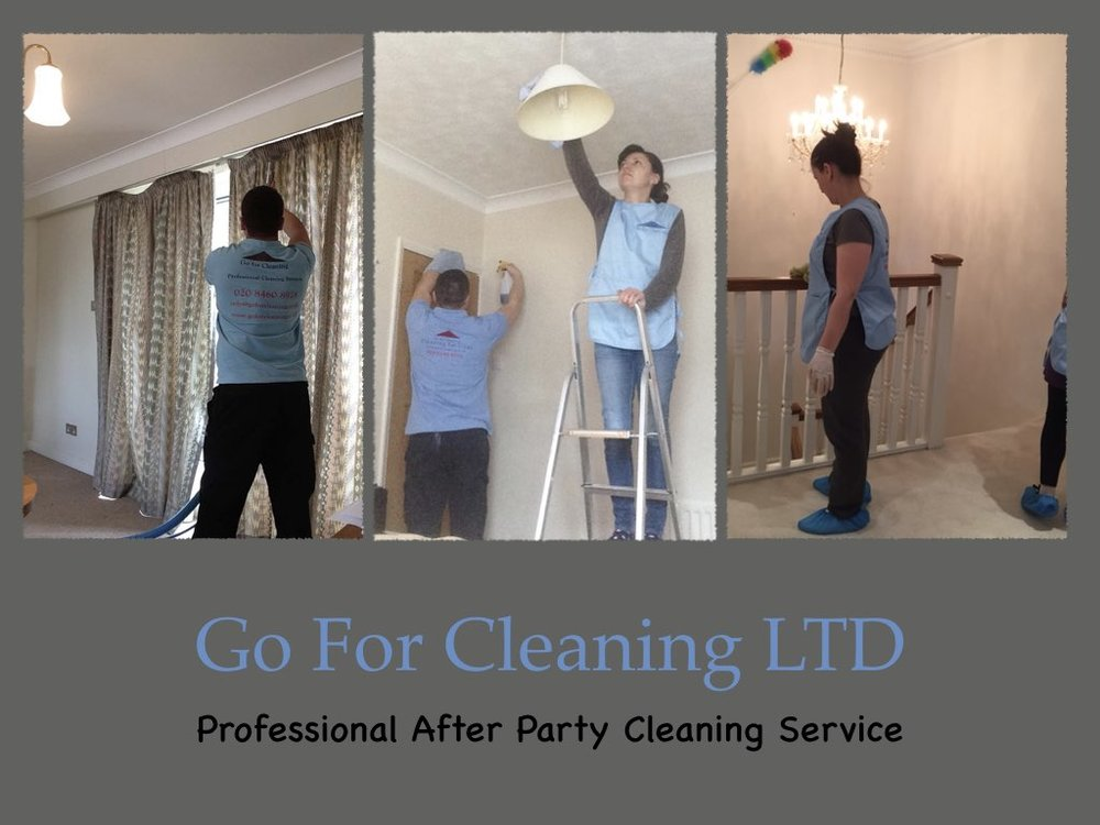 Cleaning Services in London after the party.jpeg