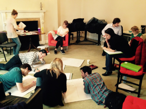 Carmen cast chart the journeys of their characters on their first few days of R&D rehearsals