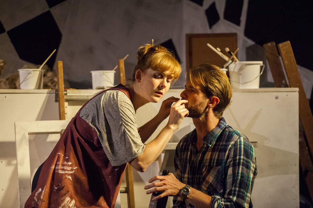 The Blank Canvas  (OperaUpClose) Melanie Sanders & Edmund Hastings. Photography Laura Marie Linck. King's Head Theatre. 2014
