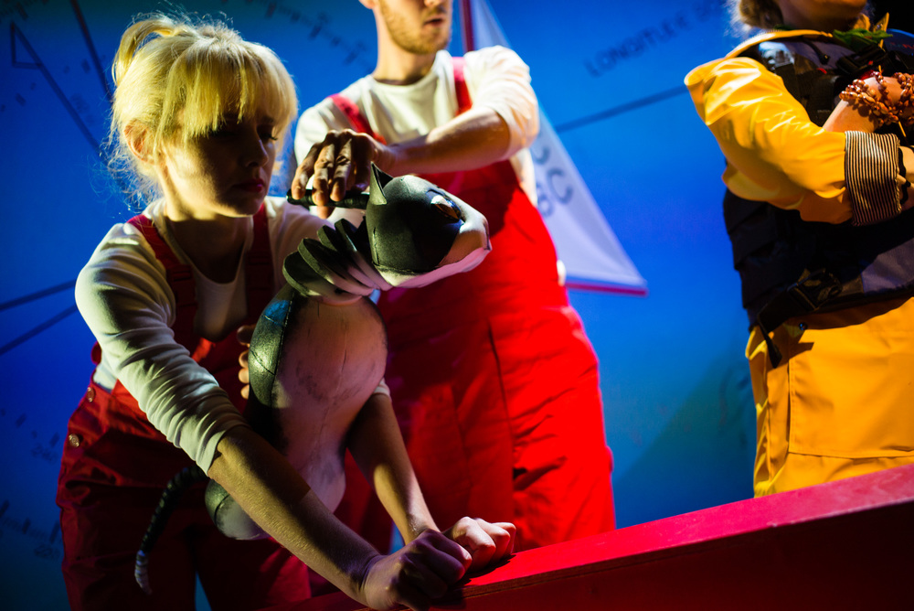 Ulla's Odyssey. OperaUpClose, Kings Place. Pamela Hay, Oskar McCarthy & Sarah Minns. Photo by Christopher Tribble.