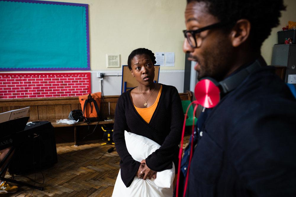From Left: Abigail Kelly (Pamina), Peter Brathwaite (Papageno)