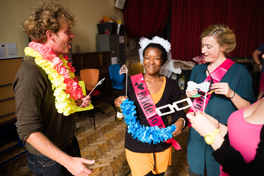 From Left: Peter Kirk (Tamino), Abigail Kelly (Pamina), Rosie Middleton (Papagena)