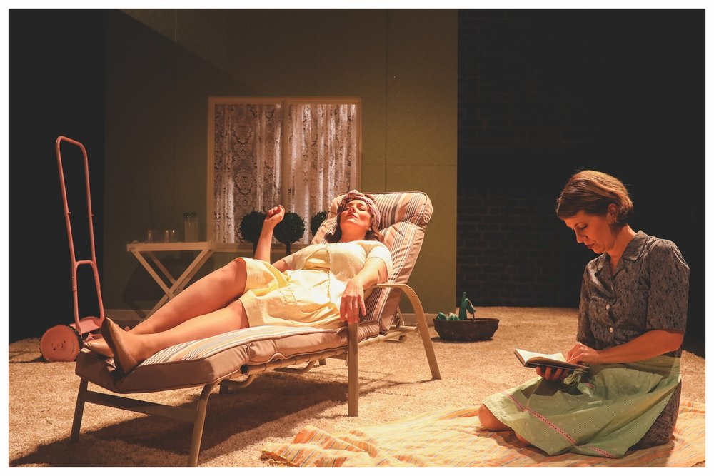 OperaUpClose's Eugene Onegin. Kathryn Hannah (Larina), Flora McIntosh (Filipyevna). Photo by Andreas Grieger.jpg