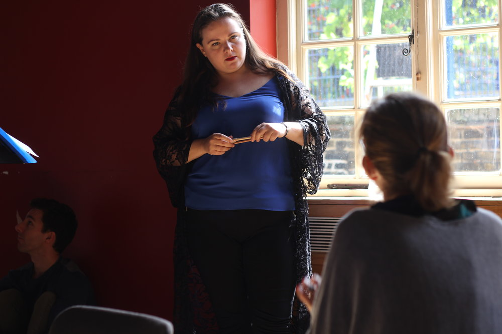 Maria Stuarda 2018: Philippa Boyle (Elizabeth), Robin Norton-Hale (Director and Librettist)