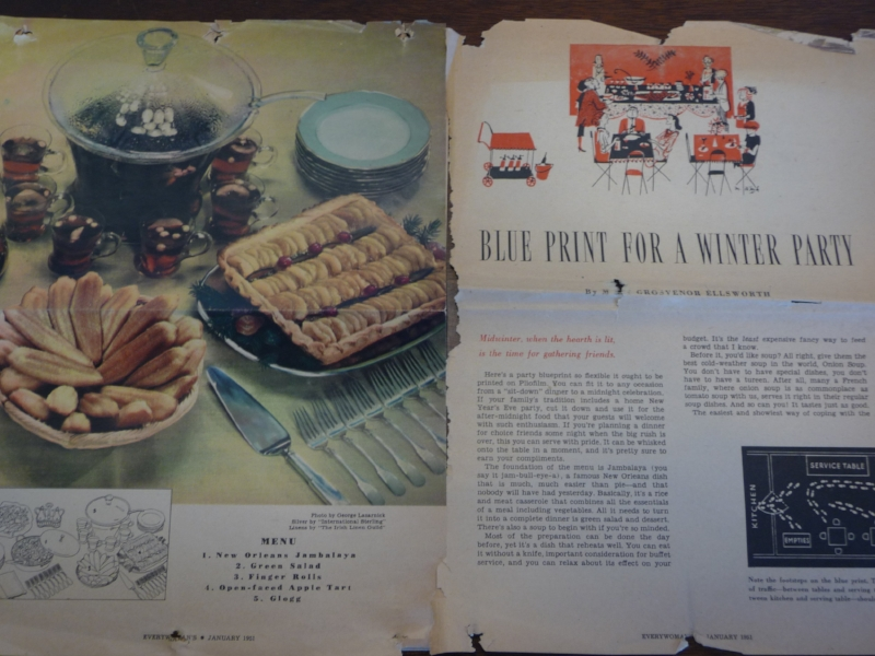 From January 1951 article in EveryWoman Magazine. Article by Mary Grovesnor Ellsworth. Photo credit: Alissa Simon.