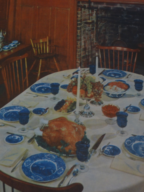 Thanksgiving table setting according to  Betty Crocker's New Picture Cookbook , 1961. Photo credit: Alissa Simon.