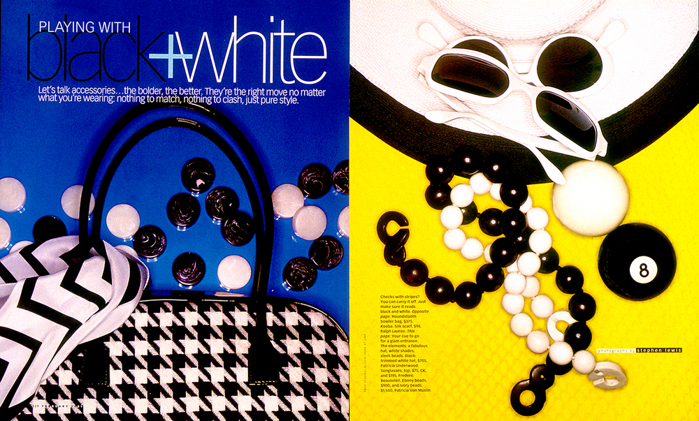Black+Whitte accessories for O, Magazine
