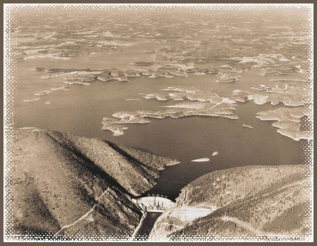Smith Mountain Lake Dam - Looking North (January 1966)