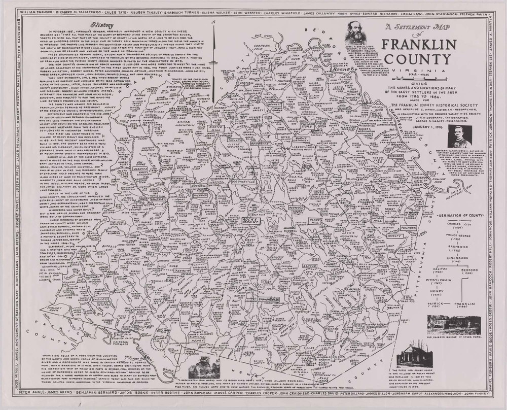 Settlement Map of Franklin County