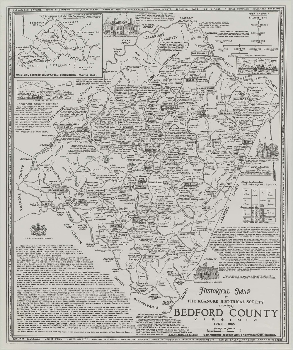 Settlement Map of Bedford County