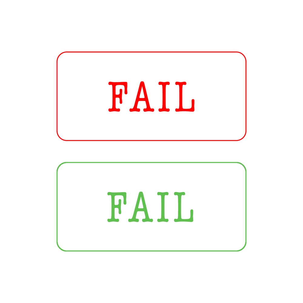 It's no coincidence that most of us associate the word 'fail' with the colour red. It's widely thought that red is the colour of a warning; why do you think it's become so closely associated with 'failure'?