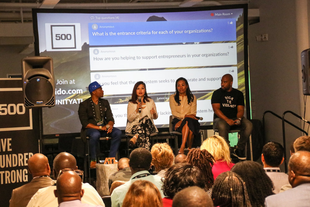 "M. Cole Jones moderated a panel called, ""Building the Atlanta Startup Ecosystem"""