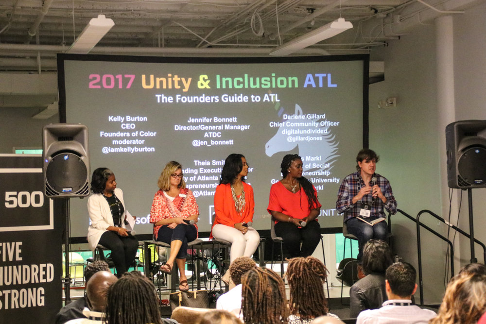 Kelly Burton, Jen Bonnett, Theia Smith, Darlene Gillard, and Chris Markl share tips on getting the most from Atlanta's startup scene