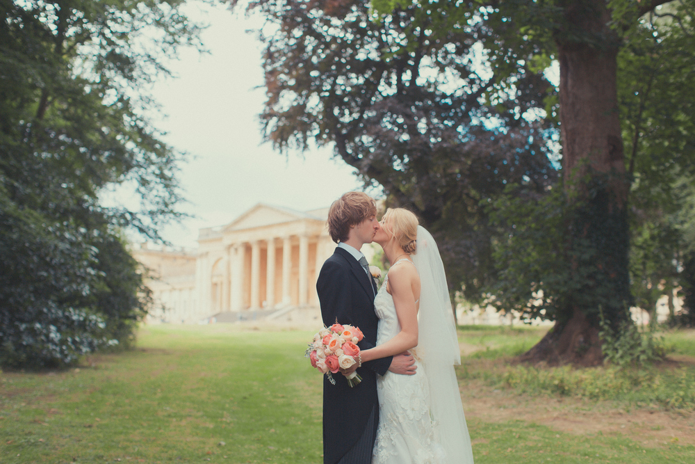 summer wedding at Stowe, Bucks