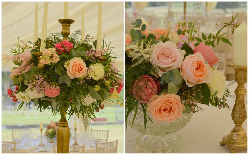 Coral, peach & blush wedding at Courteenhall, Northamptonshire