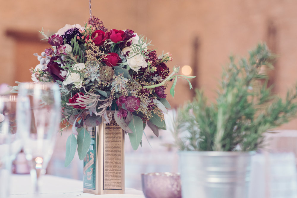 Plum coloured winter wedding at Stratton Court Barn, Oxfordshire