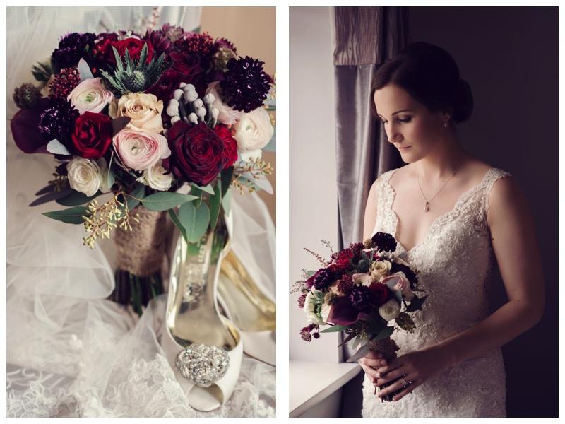Plum & Blush Wedding bouquet