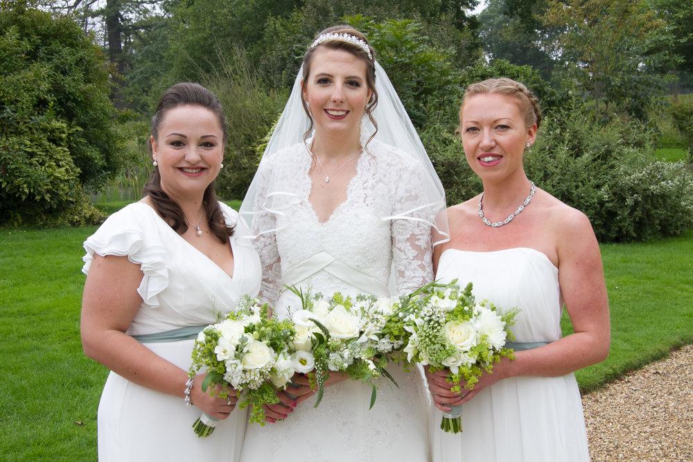 All white summer wedding