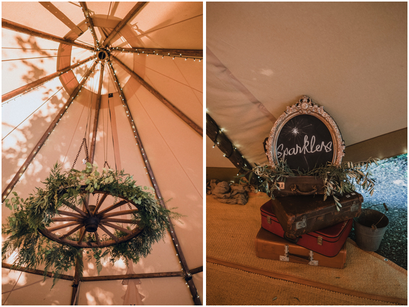 wedding tipi decor